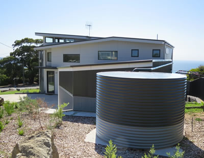 Colorbond watertank in Pambula Beach