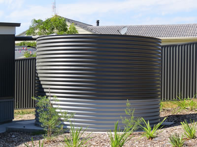 Colorbond Aquaplate water tank in Pambula Beach